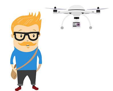 Grafik af en dronepilot